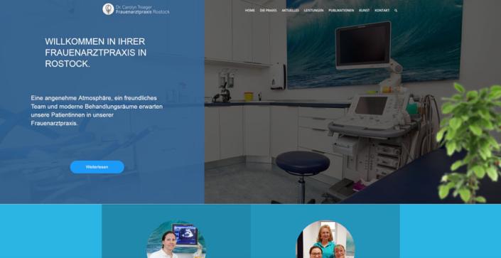 Webdesign Rostock für die Fareuenarztpraxis Dr. Troeger