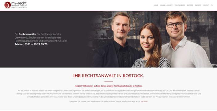 Rechtsanwälte in Rostock mit neuer Internetseite von bm&partner.