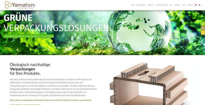 Webdesign Rostock Firma Yamaton.